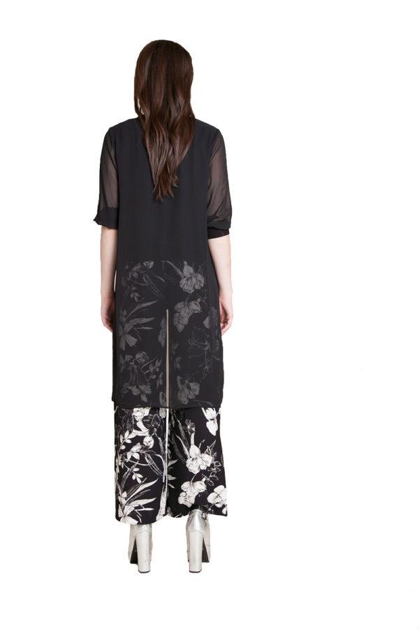 black printed pants- back