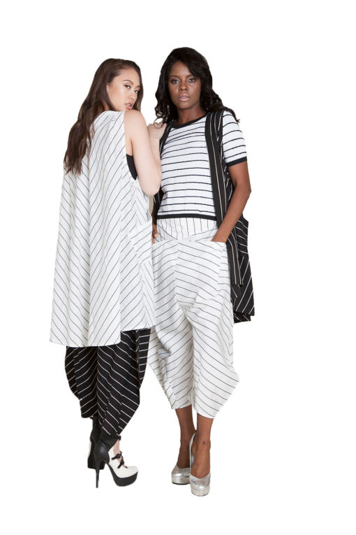 striped co ord vest and pants- back front