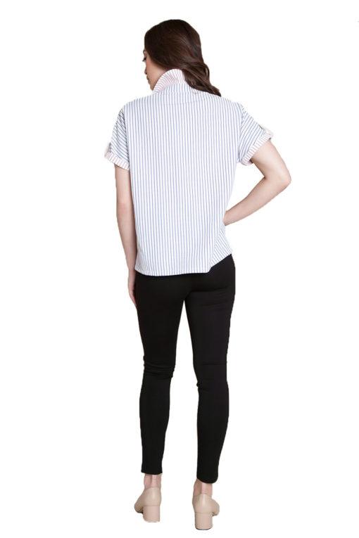 blue stripe blouse- back