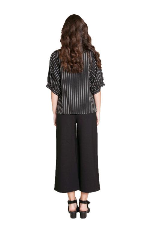 black striped blouse- back