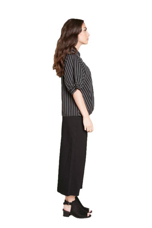 black striped blouse- side