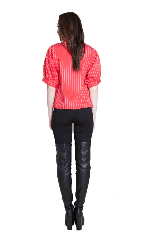 red striped blouse- back