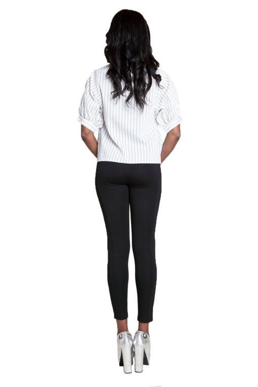 white striped blouse- back