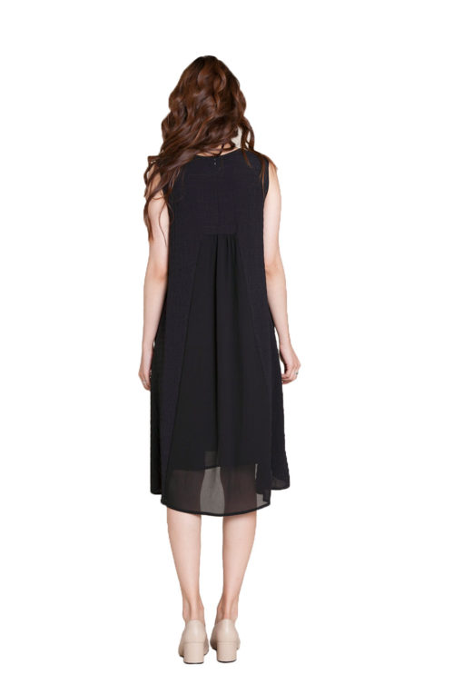 black chiffon back dress- back