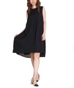 black chiffon back dress- front