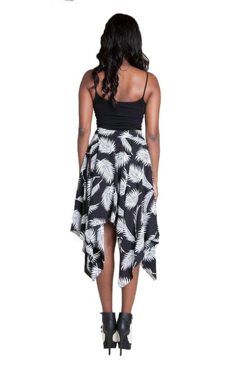 black printed skirt- back