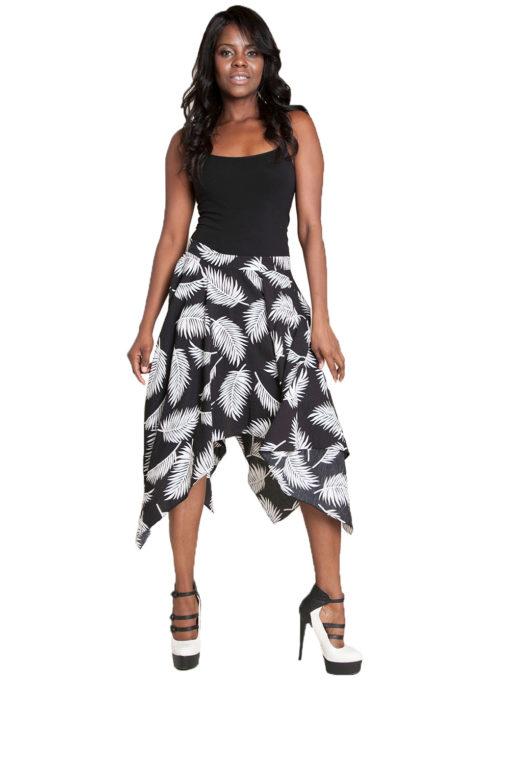 black printed skirt- front