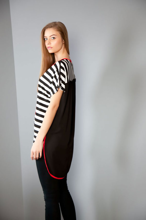 striped tunic top- side