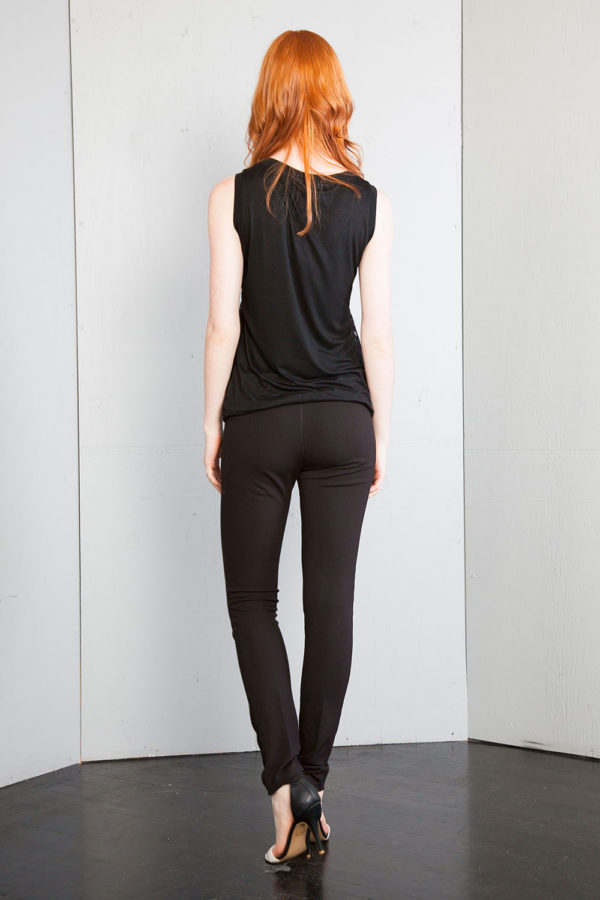 black textured top- back