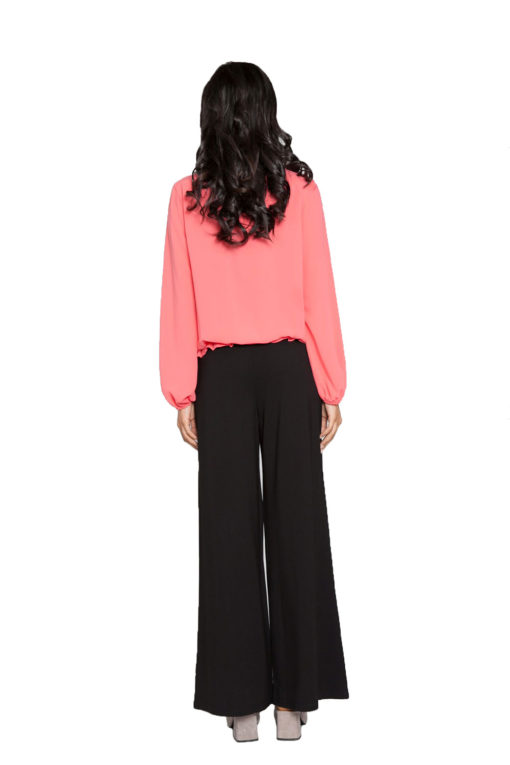 coral pleated top- back