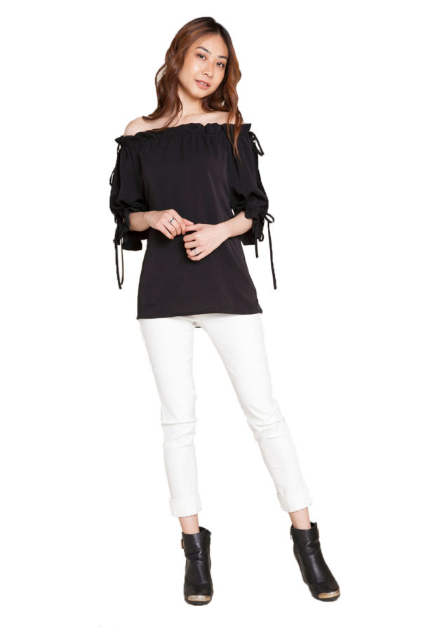 black bardot top- front
