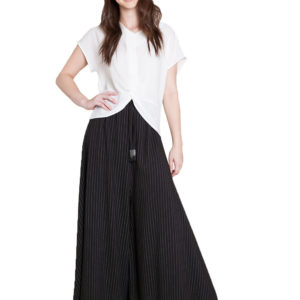 extreme wide leg striped pants- front