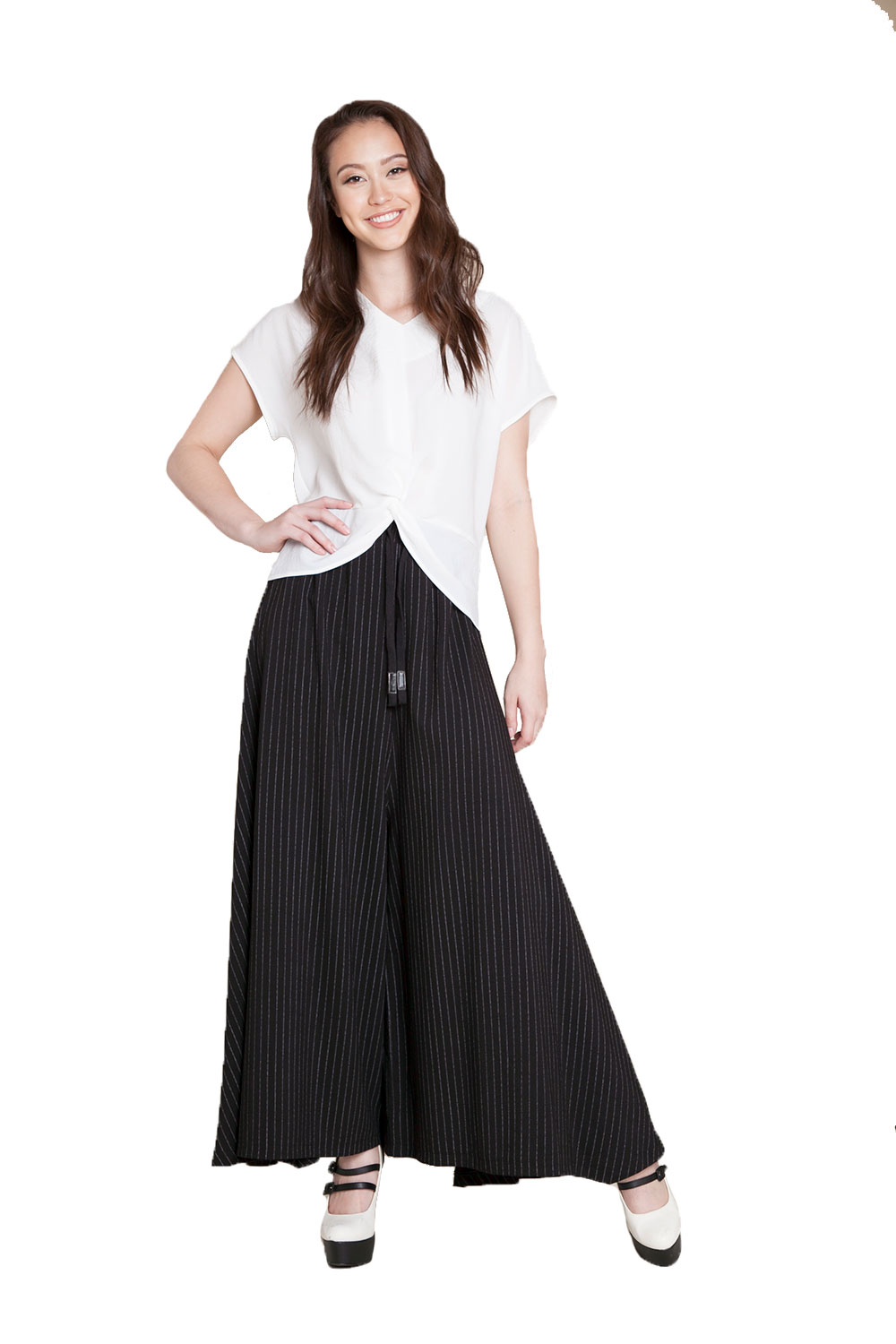 f1376a9792 extreme wide leg striped pants- front