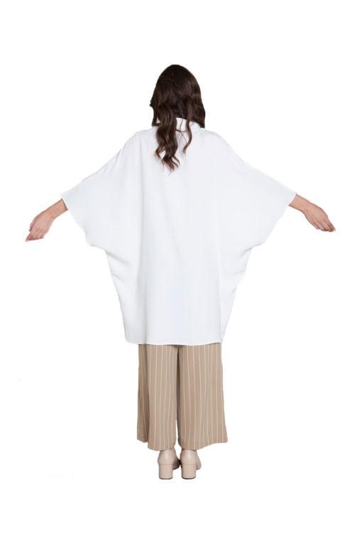 oversized white blouse- back