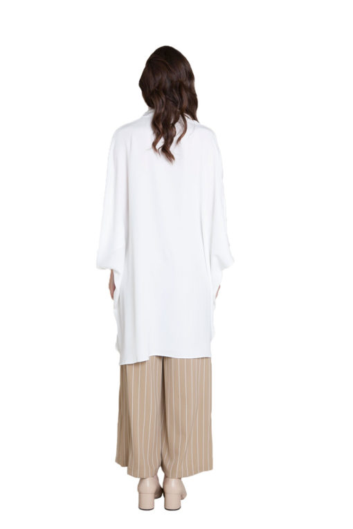 oversized white blouse- back