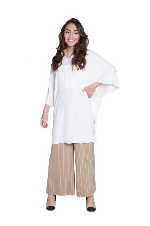 oversized white blouse- front