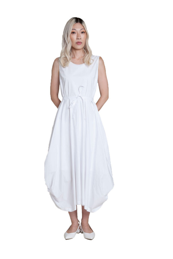 white balloon dress- front