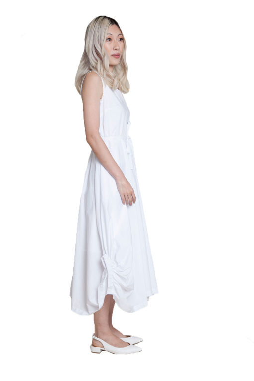 white balloon dress- side