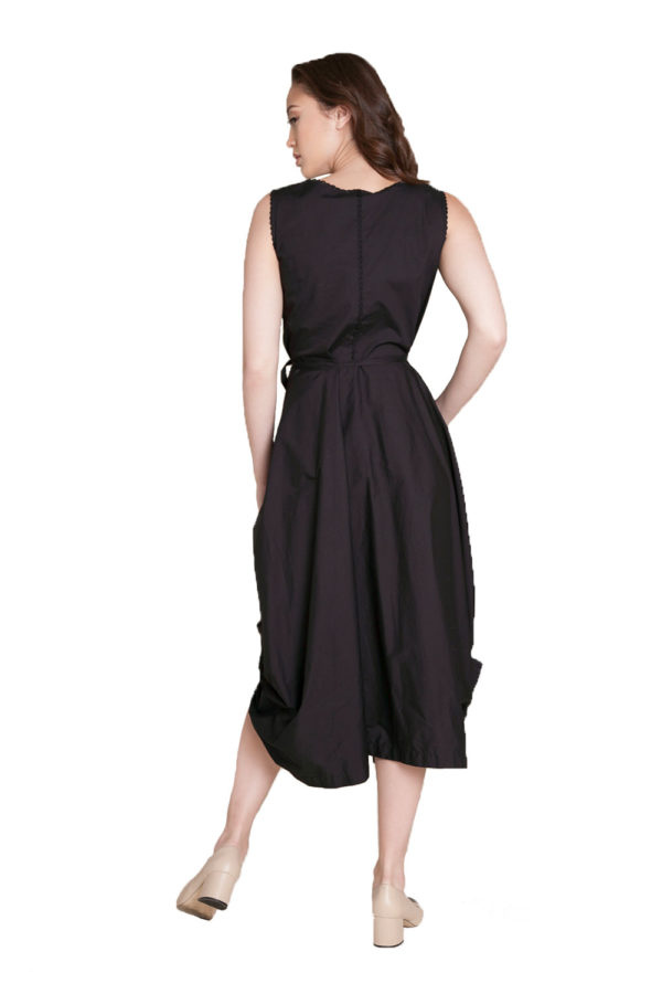black balloon dress- back