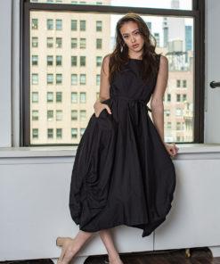 black balloon dress- front