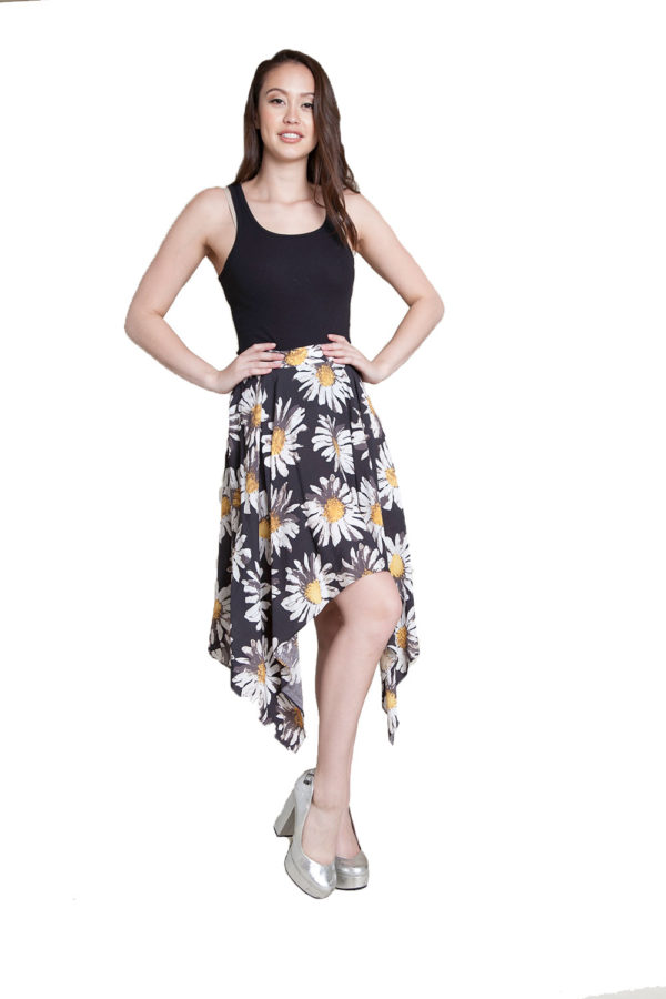 printed floral skirt- front