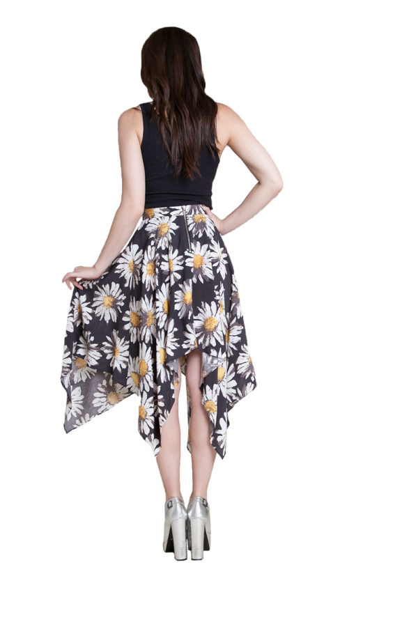 printed floral skirt- back
