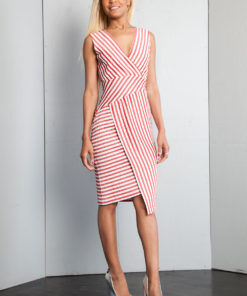red striped dress- front