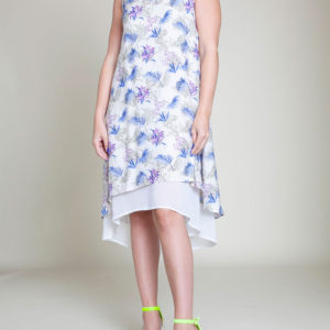 BLUE PRINTED DRESS- FRONT