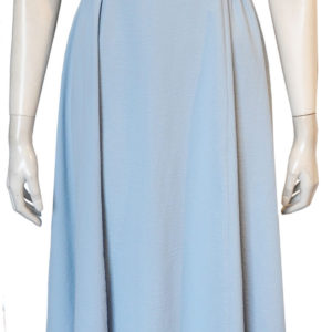 blue cross back dress- front