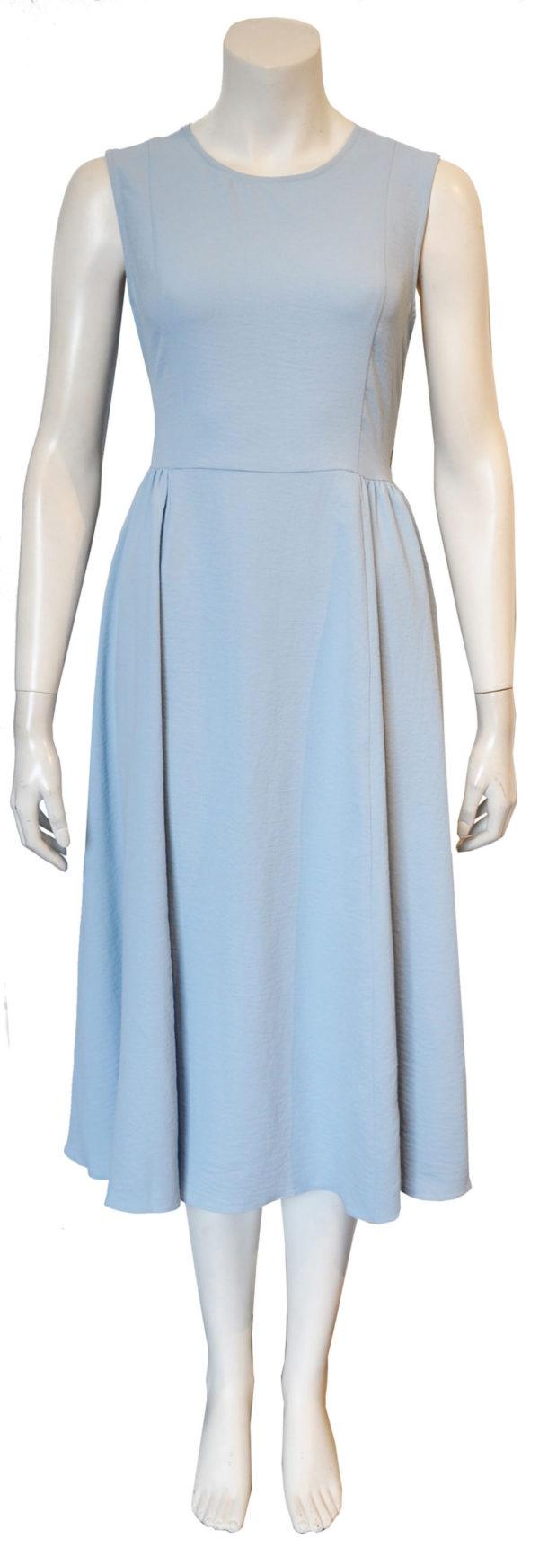 blue cross back dress- front