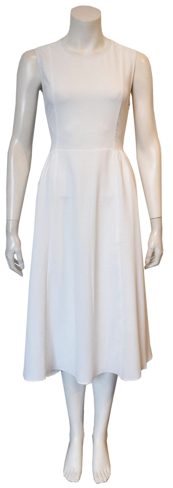 white cross back dress- front