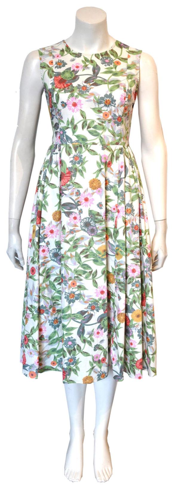 floral cross back dress- front