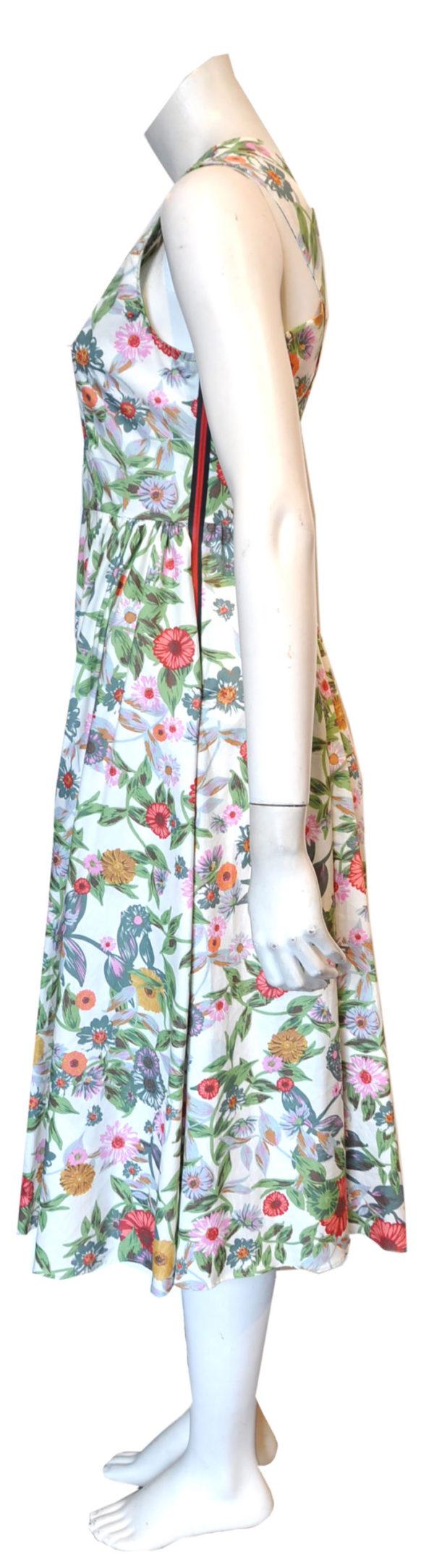 floral cross back dress- side