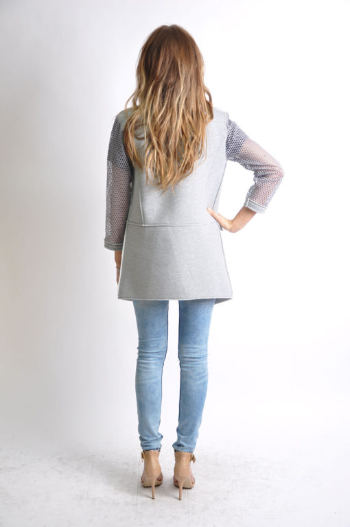 grey reversible jacket- back