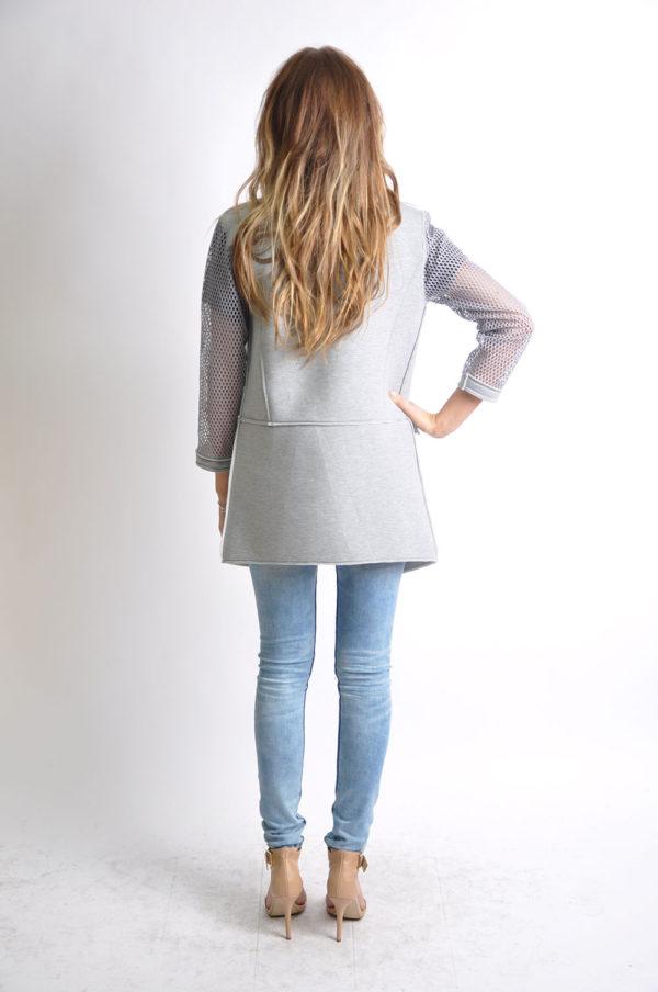 grey reversible jacket- back