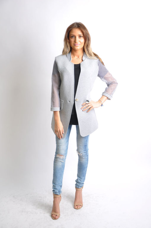 grey reversible jacket- front