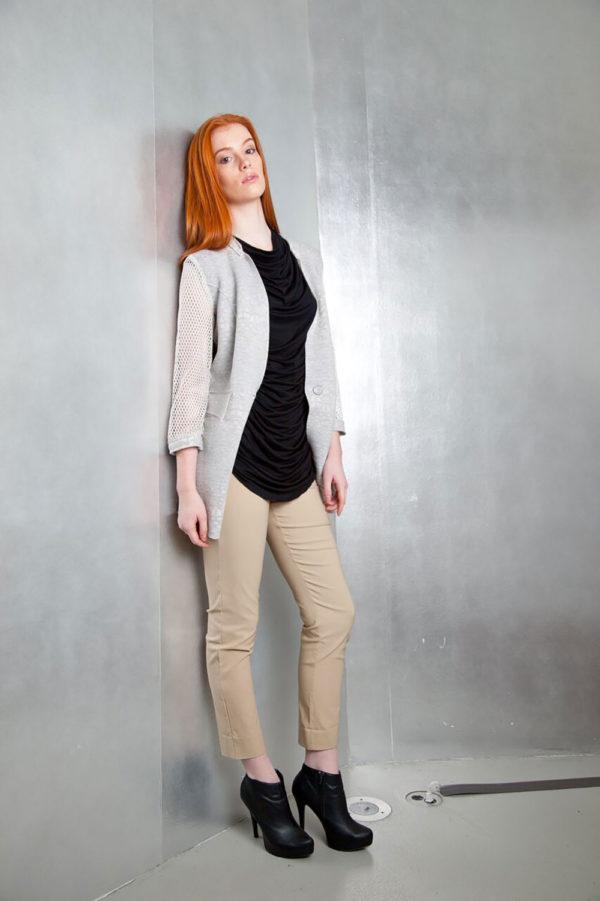 grey reversible jacket- side
