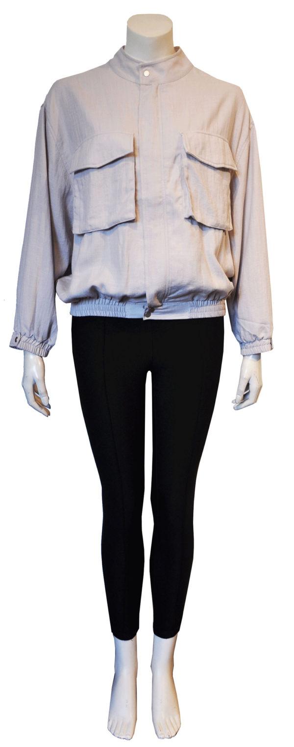 grey utility jacket- front