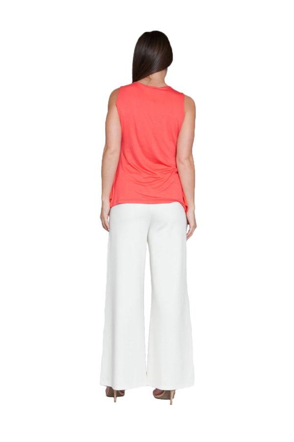 peach sleeveless top- back