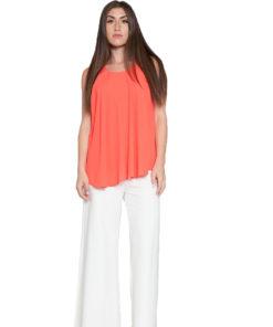 peach sleeveless top- front