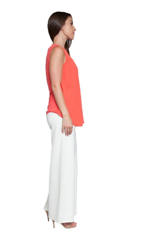 peach sleeveless top- side