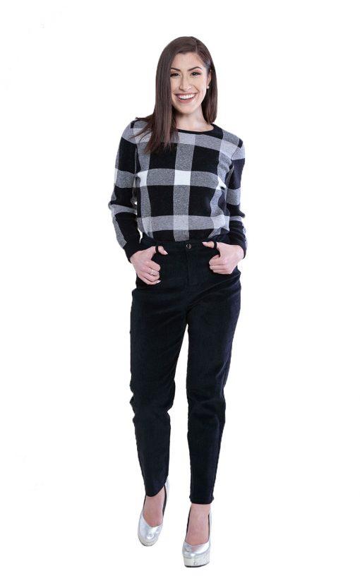 black corduroy pants- front