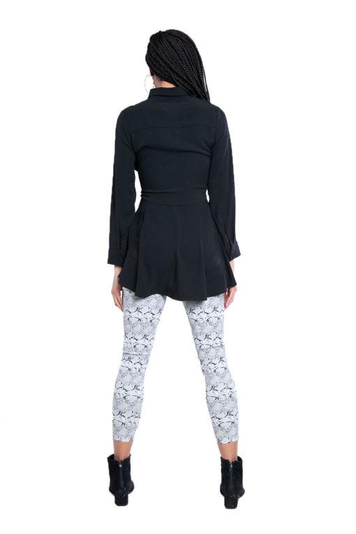 black tie waist blouse- back