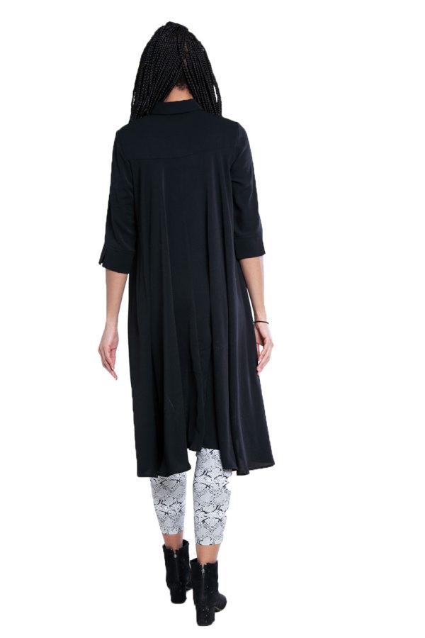 black high low blouse- back