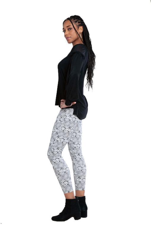 snake print pants- side