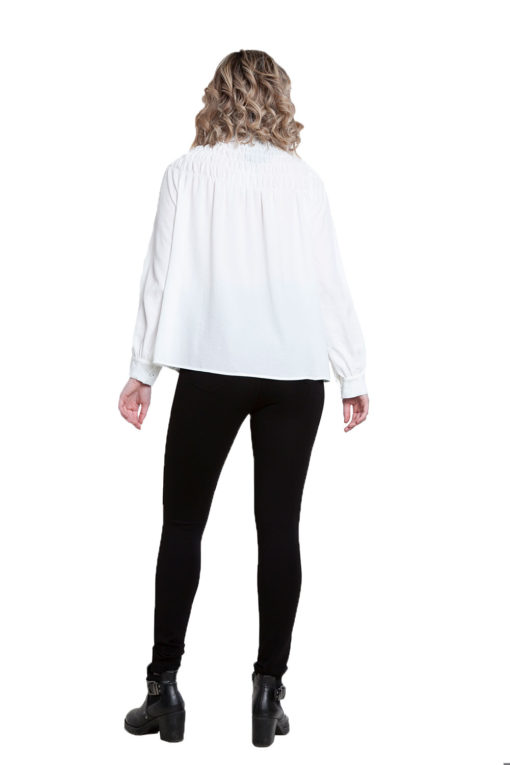 white high neck top- back