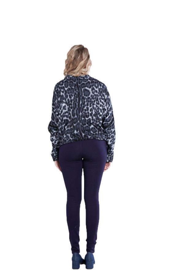 black leopard print top- back
