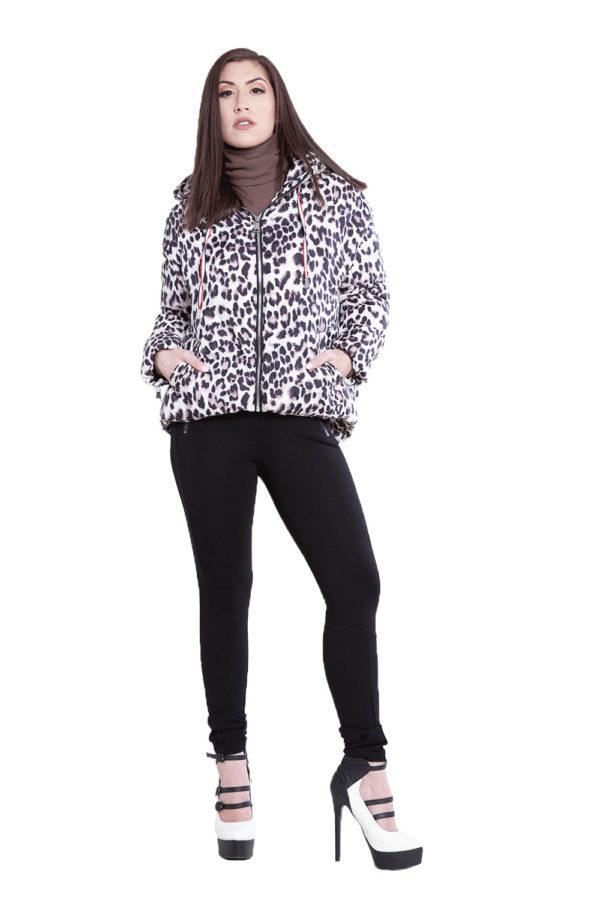 black zip side leggings- front