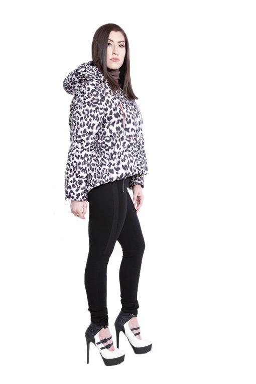 black zip side leggings- side