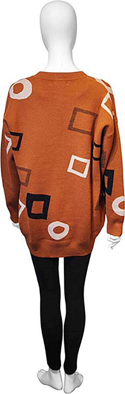 brown knit cardigan- back